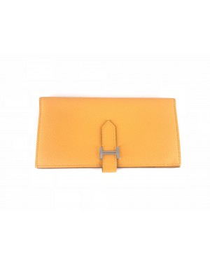 Hermes Wallet Orange 9cm x 18cm