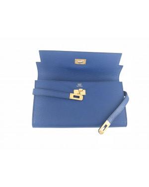 Hermes Wallet Blue NEW 12cm x 20cm